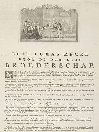 Rules of the Guild of Saint Luke in Dordrecht, 1736