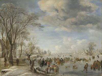 Winter in Holland, Skating Scene, 1645