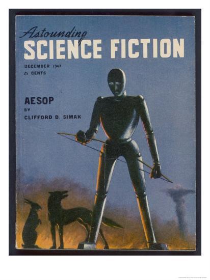 Aesop, a Rather Sad-Looking Robot- Alejandro-Giclee Print