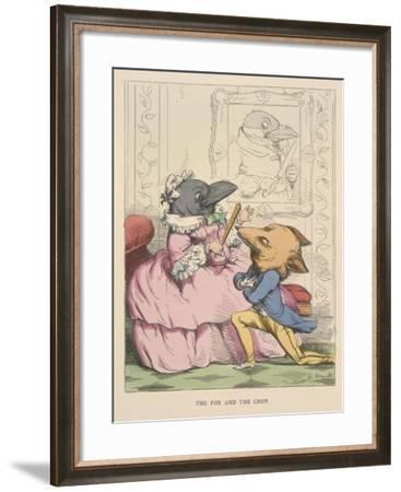Aesop Fables-C.H. Bennett-Framed Giclee Print