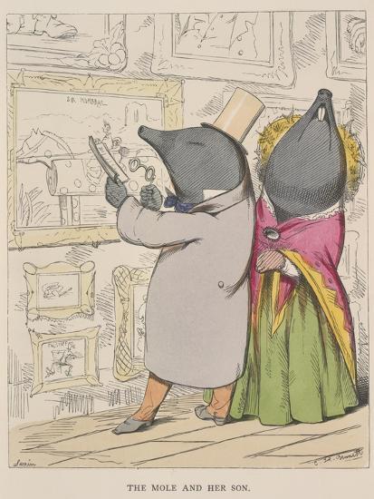 Aesop Fables-C.H. Bennett-Giclee Print