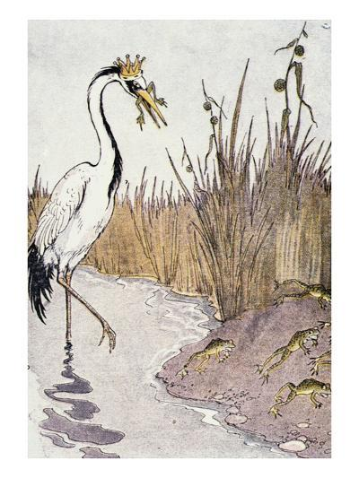 Aesop: Frogs Wish for King-Milo Winter-Giclee Print