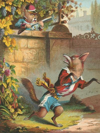 Aesop's Fables, Sour Grapes--Art Print