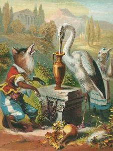 Aesop's Fables, the Fox and the Stork