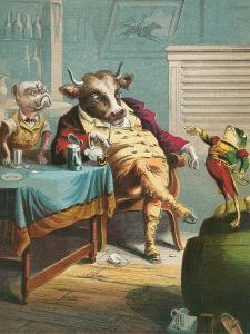 Aesop's Fables, the Ox and the Frogs