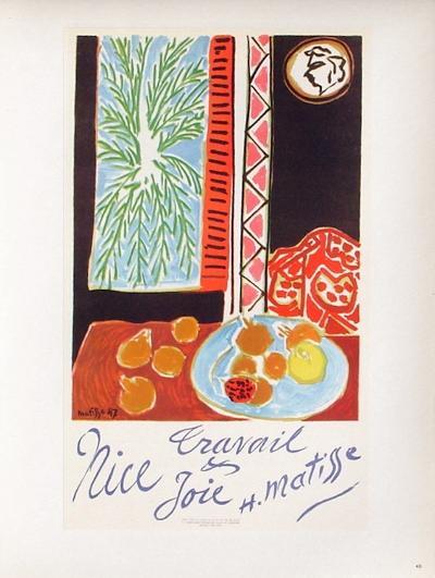 AF 1948 - Nice Travail Et Joie-Henri Matisse-Premium Edition