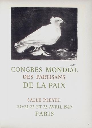 AF 1949 - Congres Mondial des Partisans de la Paix-Pablo Picasso-Collectable Print
