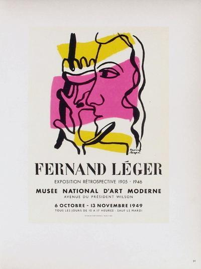 AF 1949 - Mus?e National D'Art Moderne-Fernand Leger-Collectable Print