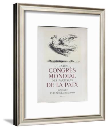 AF 1950 - Deuxième Congrès Mondial des Partisans d-Pablo Picasso-Framed Collectable Print