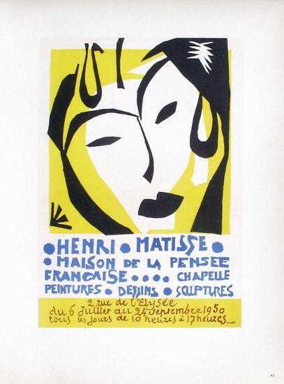 AF 1950 - Maison De La Pensée Française-Henri Matisse-Collectable Print
