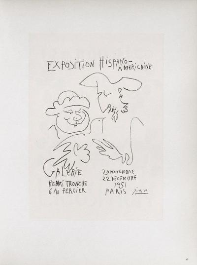AF 1951 - Exposition Hispano-Américaine III-Pablo Picasso-Collectable Print