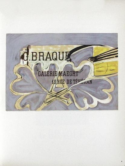 AF 1952 - Galerie Maeght-Georges Braque-Collectable Print
