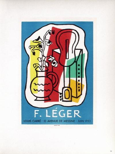 AF 1953 - Galerie Louis Carr?-Fernand Leger-Collectable Print