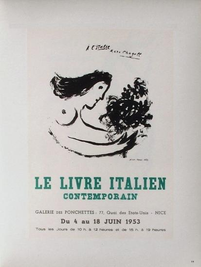 AF 1953 - Le IIvre ItaIIen-Marc Chagall-Collectable Print
