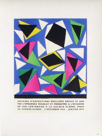 AF 1953 - Mourlot A La Galerie Kleber-Henri Matisse-Collectable Print
