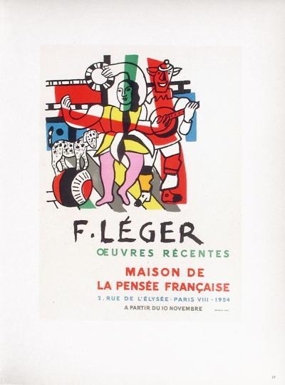 AF 1954 - Maison De La Pens?e Fran?aise-Fernand Leger-Collectable Print