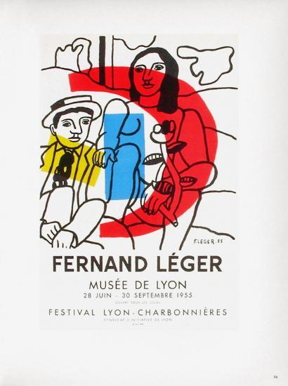 AF 1955 - Musée De Lyon-Fernand Leger-Collectable Print