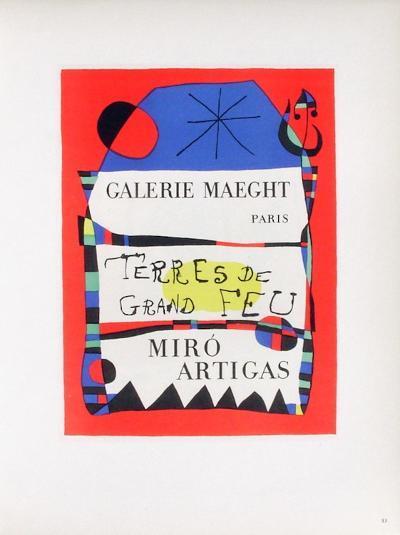 AF 1955 - Terres De Grand Feu-Joan Mir?-Collectable Print