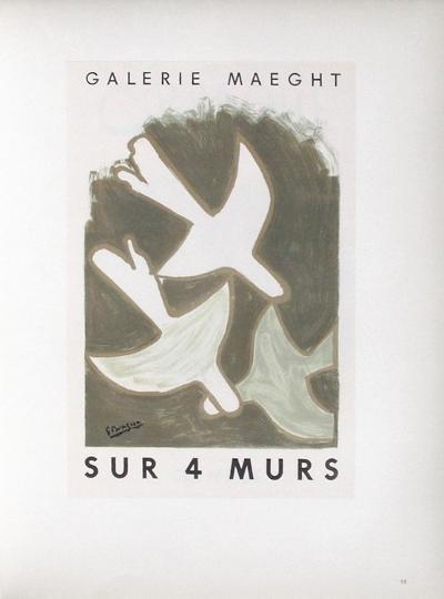 AF 1956 - Galerie Maeght Sur 4 Murs-Georges Braque-Collectable Print