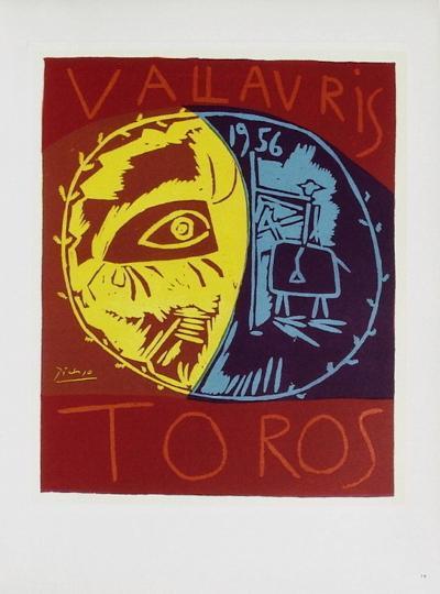AF 1956 - Toros en Vallauris-Pablo Picasso-Collectable Print