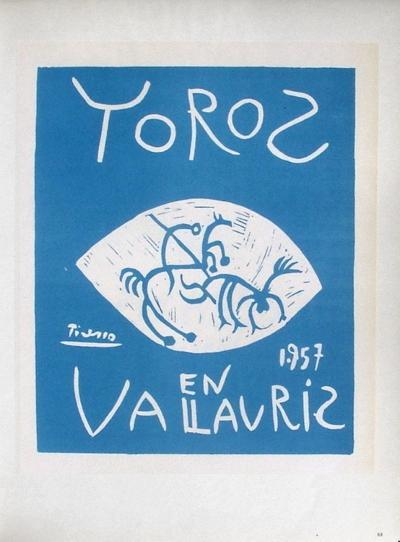 AF 1957 - Toros en Vallauris-Pablo Picasso-Collectable Print