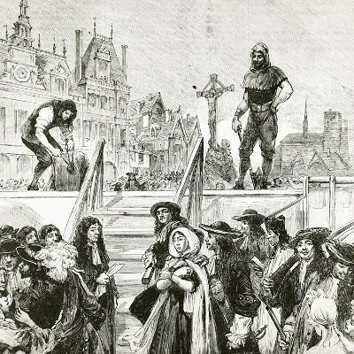 Affair of the Poisons, the Beheading of Marie-Madeleine D'Aubray, Marquise De Brinvilliers--Giclee Print