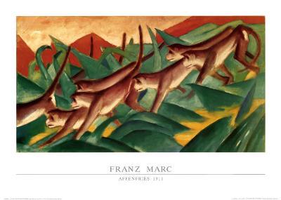 Affenfries, 1911-Franz Marc-Art Print