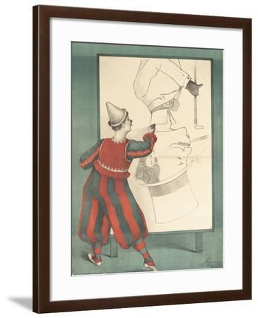 Affiche Clown portraitiste--Framed Giclee Print