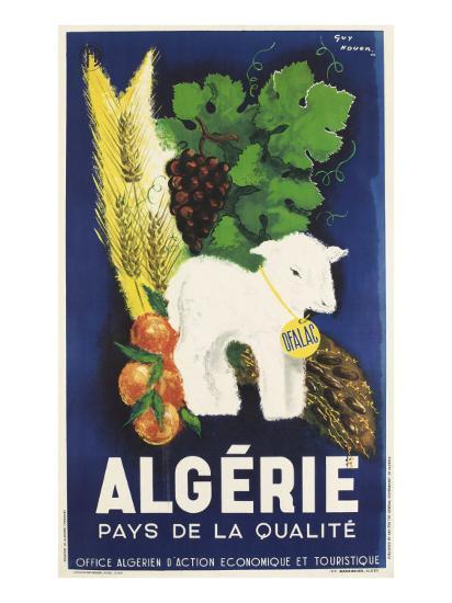 Affiche de Guy Nouen Algérie, pays de la qualité--Giclee Print