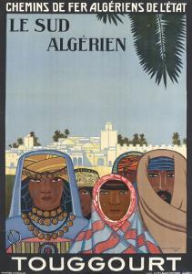 Affiche de Louis Fernez Le Sud algérien
