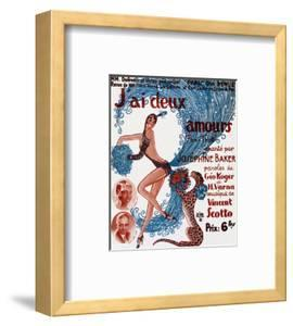 Affiche De Spectacle : J'Ai Deux Amours, Chanté Par Josephine Baker