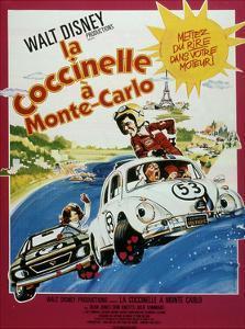 "Affiche Du Film ""La Coccinelle a Monte Carlo"" 1977"