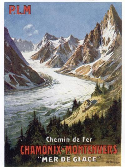 Affiche du PLM Chamonix Haute-Savoie--Giclee Print