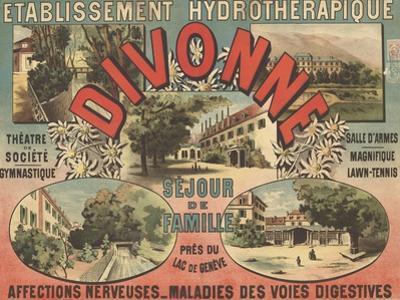Affiche Etablissement hydrothérapique, Divonne