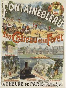 """Affiche """"Fontainebleau, son Château et sa Forêt"""""""
