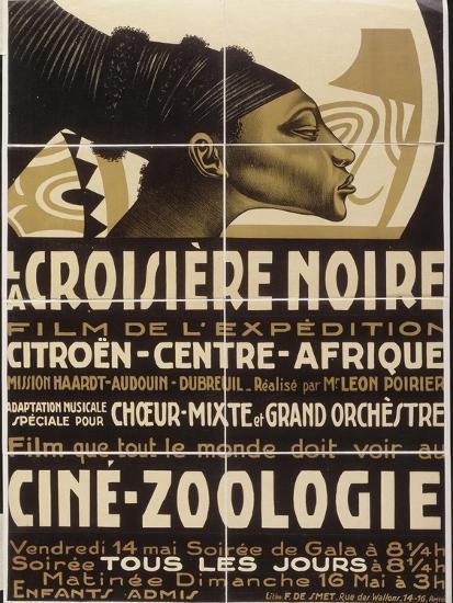 Affiche : La croisière noire, film de l'exposition Citroën-Centre-Afrique--Giclee Print
