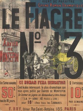 Affiche Le Fiacre n°13 par Xavier de Montepin