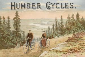 Affiche publicitaire de la maison Humber Cycles