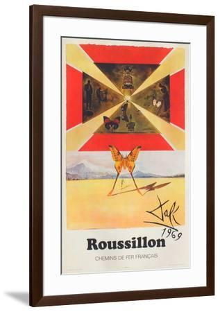 Affiches SNCF: Roussillon-Salvador Dalí-Framed Premium Edition