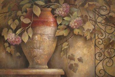 Affresco di Fiore I-Elaine Vollherbst-Lane-Art Print