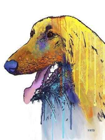Afghan Hound 2-Marlene Watson-Giclee Print