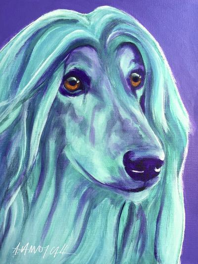 Afghan Hound - Aqua-Dawgart-Giclee Print