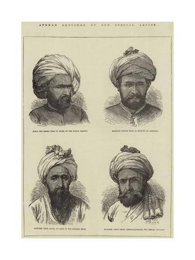 Afghan Sketches-Frank Dadd-Giclee Print
