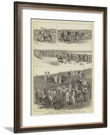 Afghanistan, Mountain Batteries of the Anglo-Indian Army on the Frontier-Alfred Chantrey Corbould-Framed Giclee Print