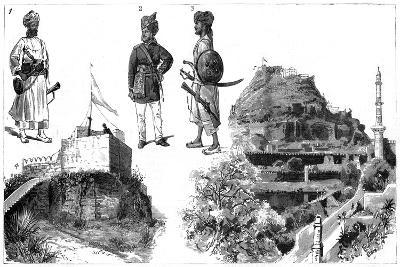 Afghans and Images of Hyderabad, Central India, 1888--Giclee Print
