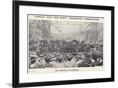 """""""Africa and the East"""" Exhibition, Birmingham--Framed Photographic Print"""