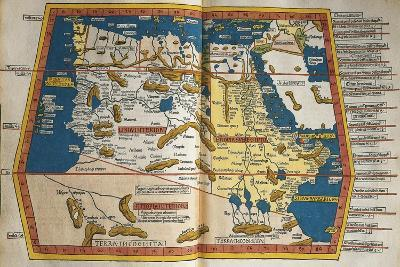 Africa and Unknown Southern Land, from Claudius Ptolemy's Cosmographia--Giclee Print