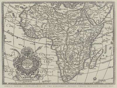 Africa before Stanley, Map of the Continent Nearly Three Hundred Years Old--Giclee Print