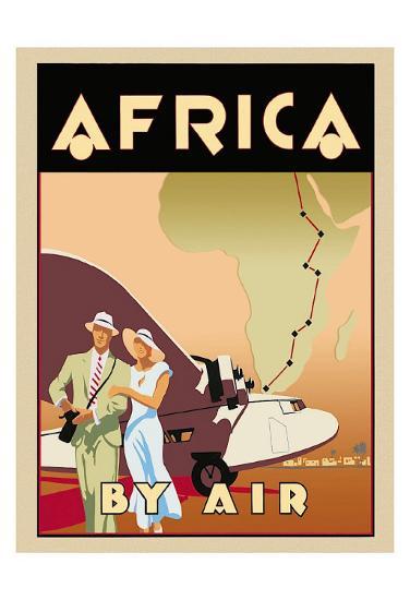 Africa by Air-Brian James-Art Print