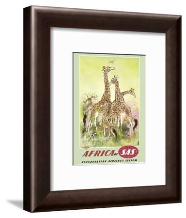 Africa- by SAS Scandinavian Airlines System-Otto Nielsen-Framed Art Print